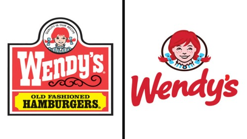 Wendy's Old and New Logo